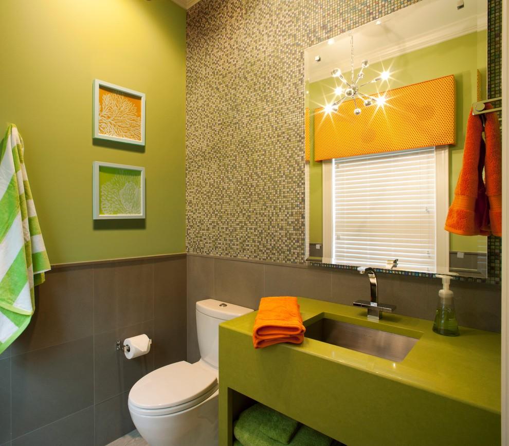 Отделка стен ванной разными материалами