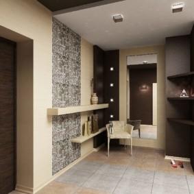 комбинированные обои в коридоре квартиры виды интерьера