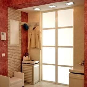 комбинированные обои в коридоре квартиры идеи дизайн