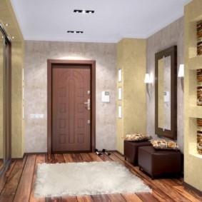 комбинированные обои в коридоре квартиры идеи дизайна