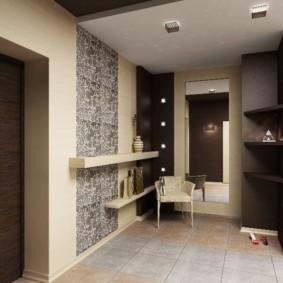комбинированные обои в коридоре квартиры декор фото