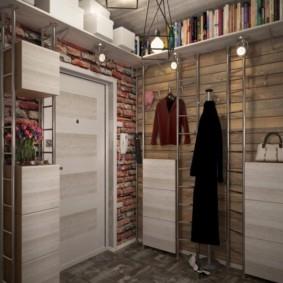 комбинированные обои в коридоре квартиры декор идеи