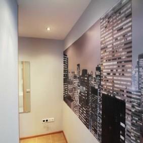 комбинированные обои в коридоре квартиры фото интерьер