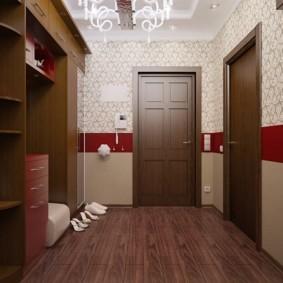 комбинированные обои в коридоре квартиры варианты