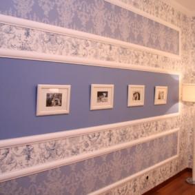 комбинированные обои в коридоре квартиры варианты фото