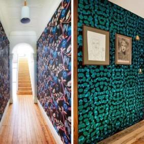 комбинированные обои в коридоре квартиры идеи варианты