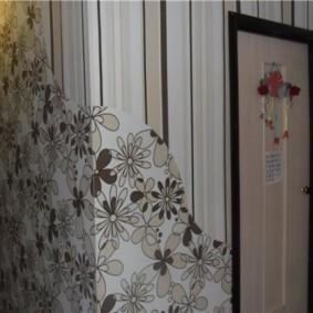 комбинированные обои в коридоре квартиры идеи вариантов