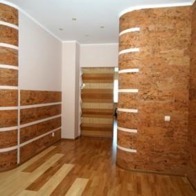 комбинированные обои в коридоре квартиры виды фото