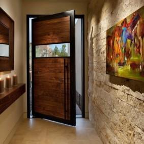 комбинированные обои в коридоре квартиры фото видов