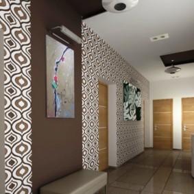 комбинированные обои в коридоре квартиры идеи виды