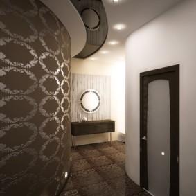 комбинированные обои в коридоре квартиры обзор
