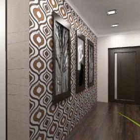 комбинированные обои в коридоре квартиры обзор идеи