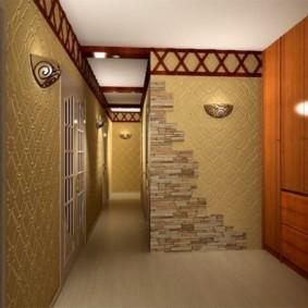 комбинированные обои в коридоре квартиры идеи обзор