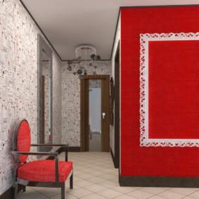 комбинированные обои в коридоре квартиры идеи обзоры