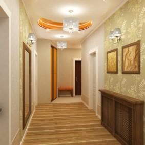комбинированные обои в коридоре квартиры виды дизайна