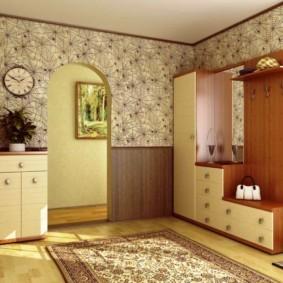 комбинированные обои в коридоре квартиры дизайн фото