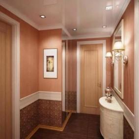 комбинированные обои в коридоре квартиры фото дизайн