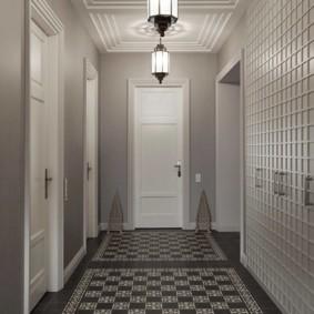 коридор с потолком из гипсокартона дизайн