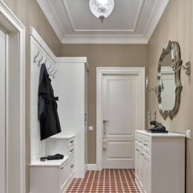 коридор с потолком из гипсокартона декор