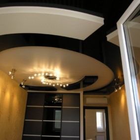 коридор с потолком из гипсокартона декор фото