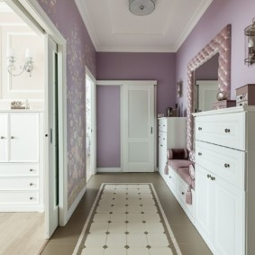 коридор с потолком из гипсокартона фото декора