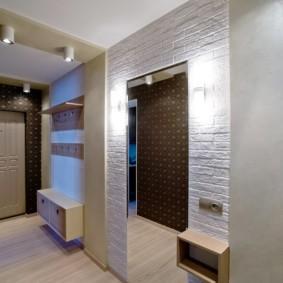 коридор с потолком из гипсокартона декор идеи