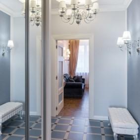 коридор с потолком из гипсокартона идеи декор
