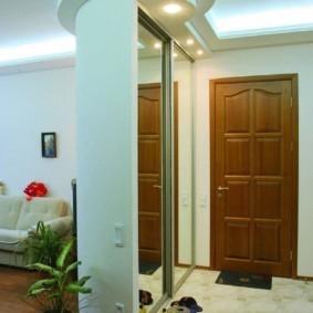 коридор с потолком из гипсокартона интерьер