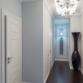 коридор с потолком из гипсокартона интерьер фото