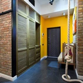 коридор с потолком из гипсокартона фото интерьера