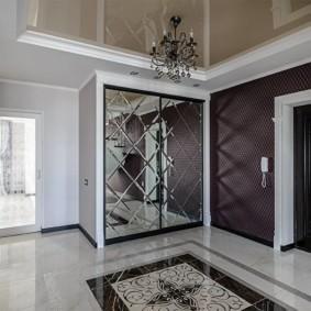коридор с потолком из гипсокартона идеи интерьер