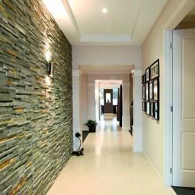 коридор с потолком из гипсокартона оформление