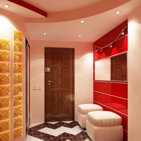 коридор с потолком из гипсокартона фото оформление