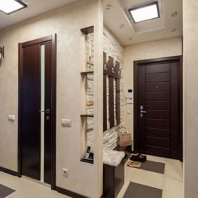 коридор с потолком из гипсокартона оформление идеи