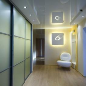 коридор с потолком из гипсокартона идеи оформление