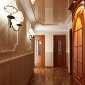 коридор с потолком из гипсокартона варианты фото