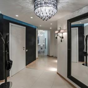 коридор с потолком из гипсокартона фото варианты