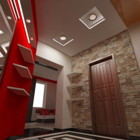 коридор с потолком из гипсокартона варианты идеи