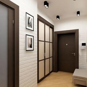 коридор с потолком из гипсокартона виды