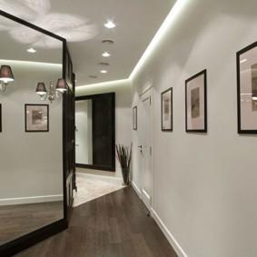 коридор с потолком из гипсокартона виды фото