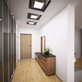 коридор с потолком из гипсокартона фото видов