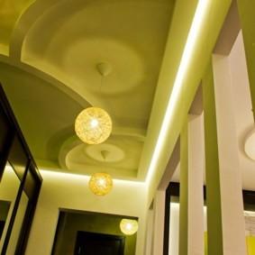 коридор с потолком из гипсокартона виды идеи