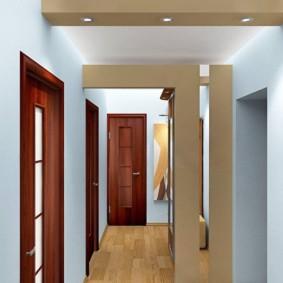 коридор с потолком из гипсокартона идеи виды