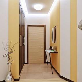 коридор с потолком из гипсокартона обзор