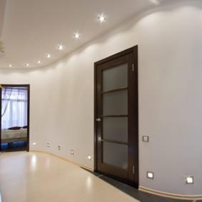 коридор с потолком из гипсокартона виды дизайна