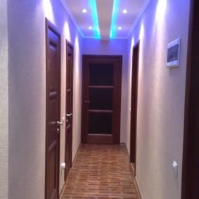 коридор с потолком из гипсокартона дизайн идеи