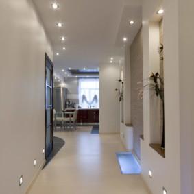 коридор с потолком из гипсокартона дизайн интерьера