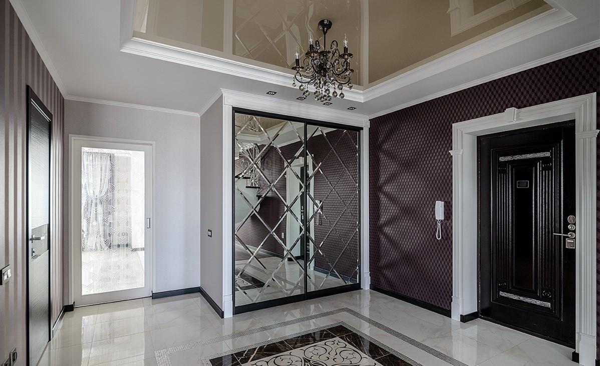 коридор с потолком из гипсокартона фото дизайн