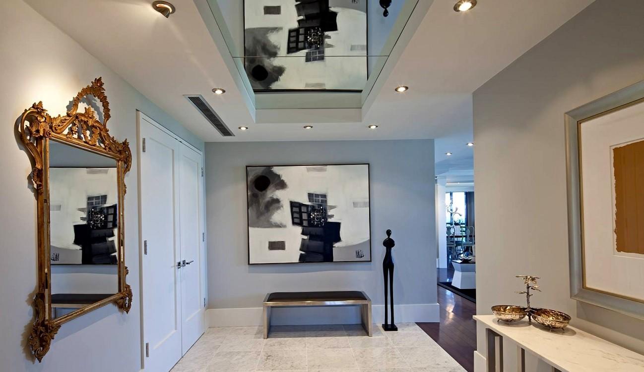 коридор с потолком из гипсокартона фото дизайна