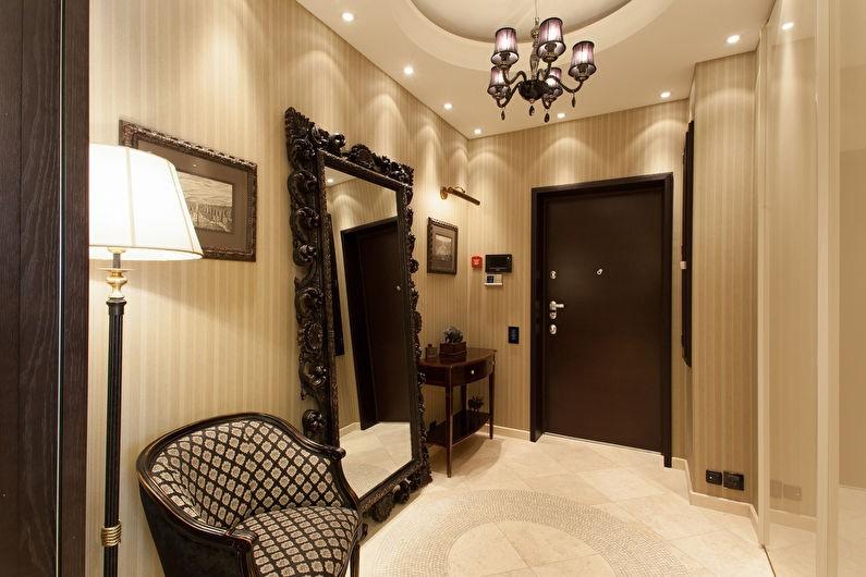 коридор с потолком из гипсокартона фото идеи
